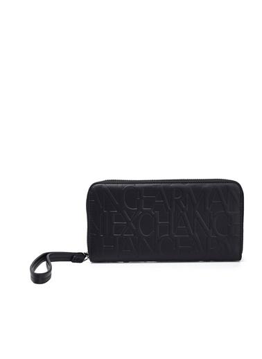 Armani Exchange Armanı Exchange 948451 Cc793 00020 Logo Baskılı Kadın Cüzdan Siyah